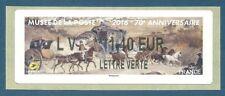 LISA 2 (ATM) LV ***1,40 EUR LETTRE VERTE sur papier Diligence Musée postal 2016