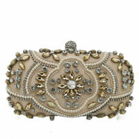 Elegant Women Evening Bags Beaded Clutch Handbags Bridal Wedding Party Purses