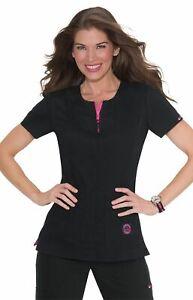 Koi Scrubs Women's Serenity Double Zipper Top