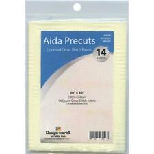 "14 Count Antique White Aida Precuts 20"" X 30"" Gold Fabrics by Design Works"