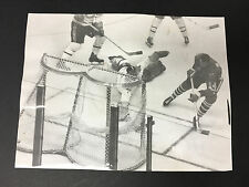 1962 Jacques Plante Vintage Press Photo NHL Hockey Stanley Cup Playoffs Chicago