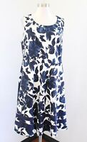 41 Hawthorn Stitch Fix Blue White Floral Print Fit and Flare Dress Size 1X 1XL