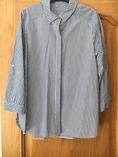 Blue And White Ticking Stripe Shirt