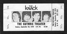 1979 Get The Knack Tour Unused full Concert Ticket Guthrie Theatre My Sharona