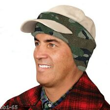 baseball CAP Fleece EARs Forehead BAND - CAMOUFLAGE Green New earband Headband