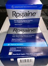 ROGAINE (2) Hair Regrowth Treatment Topical Solution 6 Month Supply Exp 08/2021+