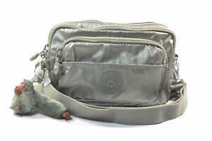 Kipling AC8016 0EG Merryl Metallic Stoney Nylon 2-In-1 Convertible Crossbody Bag