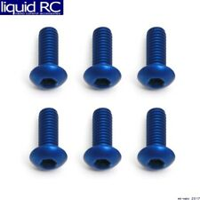 Associated 8552 M3x8mm Blue Aluminum BHCS Button Head Cap Screws (6)