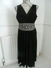 STUNNING RONNI NICOLE BLACK DRESS SIZE 14 EXCELLENT CONDITION