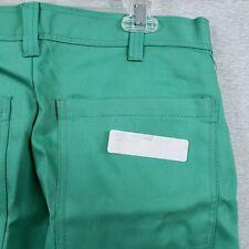 Stanco Mfg Green Flame Resistant Welding Pants 34 W X 32l Nos 4 Pocket Cotton