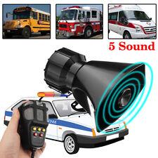 12V 100W Voiture Auto Alarme Klaxon Police Feu 5 Sirène Haut-parleur Système MIC