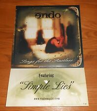 Endo Songs for the Restless Poster 2-Sided Flat Square 2003 Promo 12x18 (RAP)