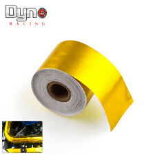 "2""x29' 9M 1200°f Continuous Gold Reflective Heat Shield Self Adhesive Wrap Tape"