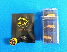 Predator Tip / Chalk Combo Medium Victory Cue Tip & 3 Pc 1080 Pure Chalk +Holder