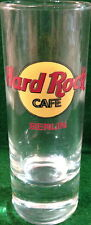 "Hard Rock Cafe Berlin 4"" Shot Glass Classic Hrc Logo w/ Red Text Letters Cordial"