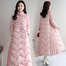 Inverno donne cinesi verso il basso cotone ricami FOLK lungo cappotto Giacca cappotto Parka