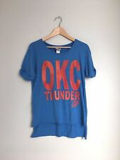 JUNK FOOD Clothing Womens Short Sleeve OKC THunder Sports Tee Shirt Top Blue XS