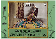 Grandmother Clark's #24 c.1933 Vintage Crochet Patterns for Rag Rugs in Color!