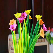 Flowers Grass Gel Pen Sign Pen 12pcs Lot Style Popular Stationery Gift Lovely