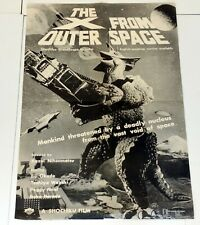 THE X FROM OUTER SPACE 1967 Japanese Sci Fi Monster Kaiju Vintage Movie Poster