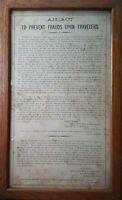 ANTIQUE 1863 CIVIL WAR RR STEAMBOAT FRAUD ACT PA RAILROAD COMPANY BROADSIDE RARE