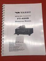 YAESU FT-450D HF Transceiver Operation  Manual