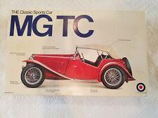 Vintage Entex 1948 MG TC 1:16 Scale Plastic Kit The Classic Sports Car #8223