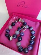 Pia Jewerly necklace Beautiful natural Agate huge Beads Designer Pia Rossini