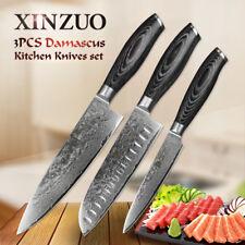 Knife Set 67 Layers Damascus Steel Knives Chef Sushi Salmon Sashimi Nigiri Slice