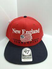 New England Revolution Soccer '47 Captain Red/Black Snapback Hat Cap