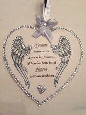Wooden heart plaque. Because someone we love is in heaven wedding keepsake gift