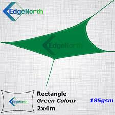 Heavy Duty Rectangle Shade Sail Outdoor Sun Cloth Canopy Awning - Green 2x4m