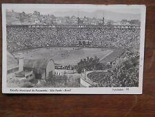 Vecchia foto cartolina d epoca di Sao Paulo Brasil estadio municipal campo da