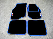 Black/Blue Car Mats - Mitsubishi Lancer Evolution 7 (Evo VII) + RalliArt Logos