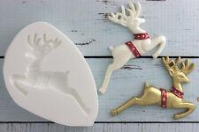 Silicone Mould, Christmas Reindeer Food Grade Ellam Sugarcraft M0048