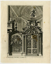 Antique Print-DESIGN-CHOIR SCREEN-Lepautre-1661