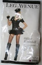 Leg Avenue Officer Bombshell Costume Size M/L Womens Sexy Police With Real Radio
