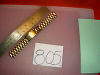 'Vtg MIRA-FLEX USA made S Steel Two Tone(Plated ?) Mens Watch BAND 8 mm lug