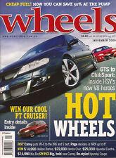Wheels Nov 00 330Ci WRX XR6 Commodore S Forester GT Magna VR-X PT Cruiser CR-V