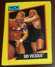 Sid Vicious Signed Auto'd 1991 Impel WCW Rookie Card RC #34 Autographed WWE WWF