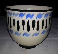 Vintage Handmade Pottery Bowl Handpainted Marked Tk