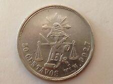 1886 Mo M Mexico 50 CENTAVOS  Coin Silver 0.903 REPUBLICA MEXICANA XF
