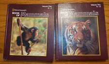 National Geographic Book of Mammals Volumes 1 & 2 Complete Set - Hc Vgc
