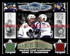 11x14 PHOTO WENDEL CLARK & DOUG GILMOUR RETIRE BANNERS 2 MAPLE LEAF GARDENS SEAT