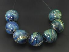 Handmade Lampwork Glass Focal Hollow Bead set by ikuyoglassart SRA