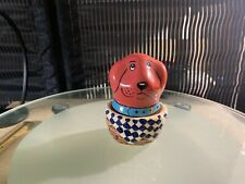 """Vintage salt and pepper shakers Cute Doggie & Bed 4/12"""""""