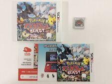 Pokemon Rumble Blast Nintendo 3DS Auth Tested CIB COMPLETE