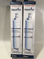 Lot Of 2 - Aquarius / Whirlpool Refrigerator Filter AWF-4396508 New / Sealed