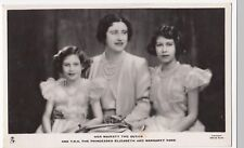 Her Majesty The Queen & Princesses Elizabeth & Margaret Rose RP PPC, Unposted