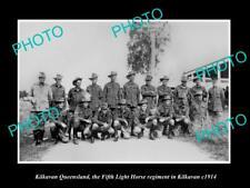 POSTCARD SIZE PHOTO OF WWI AUSTRALIAN ANZAC S6x4IERS 5th LIGHT HORSE KILKAVAN